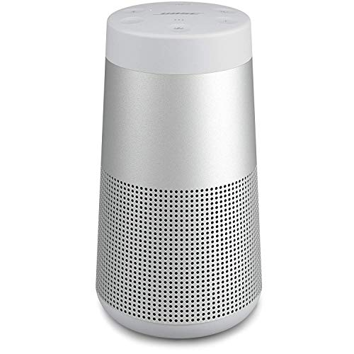Bose SoundLink Revolve, tragbarer Bluetooth - Lautsprecher (mit kabellosem 360°-Surround-Sound), Silber