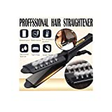 LauVery Hair Straightener, Four-Gear Ceramic Tourmaline Ionic Flat Iron Hair Straightener for Women Girls (Black, 1 PC)