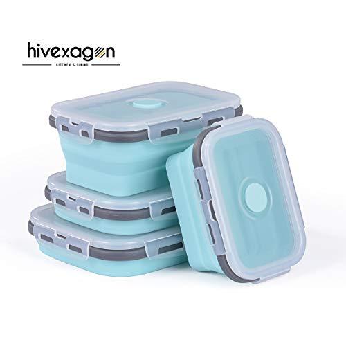 Hivexagon Boîtes pliables en Silicone Récipients pour aliment, Boîte...