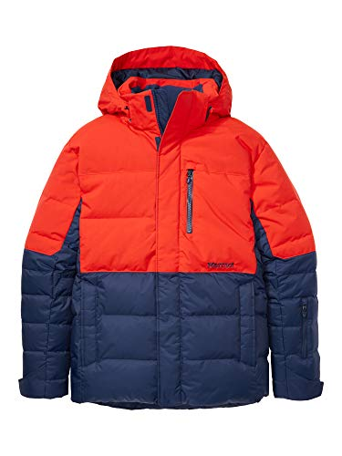 Marmot Shadow Jacket Piumino Da Neve, Densit Dell'imbottitura 700, Abbigliamento Da Sci E Snowboard, Antivento, Impermeabile, Traspirante, Uomo, Arctic Navy/Victory Red, XL