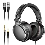 Studio Headphones with 6.6ft XLR Cable, Vogek Professional DJ Headphones Mixing DJ Headset Protein...
