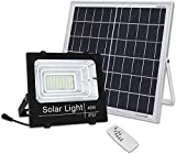 Brillihood 40W LED Solar Panel Security Light, 2000 Lumens, Outdoor Solar Powered Floodlight Waterproof Street Light with Remote Control for Lawn, Yard, Garden, Gutter, Swimming Pool, Fencing, Pathway
