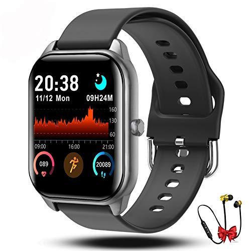 Smartwatch Orologio Fitness Uomo Donna Bambini Impermeabile Cardiofrequenzimetro Polso Contapassi...