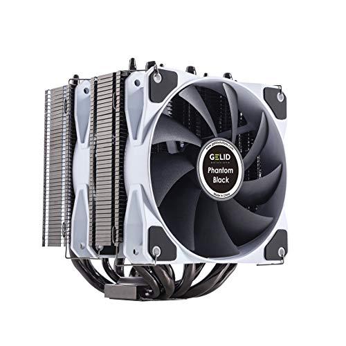 GELID Solutions Phantom Black - Dissipatore Twin Tower con 2 PWM Ventole - Compatibili con Intel ed...
