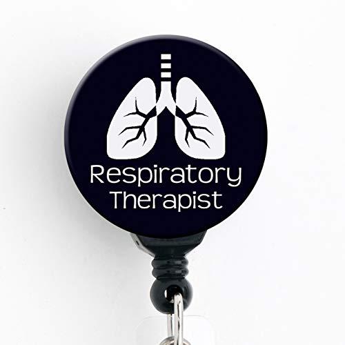 Respiratory Therapist Black & White Lungs - Retractable...