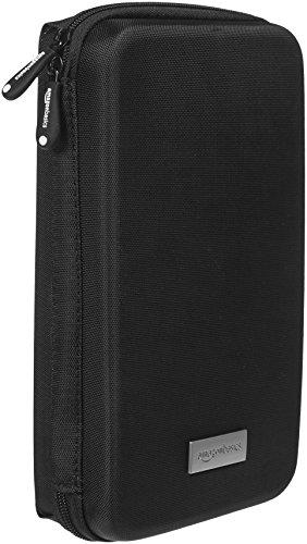 Amazonベーシック ポータブルケース ポーチ カメラ/携帯電話/GPS用 ブラック