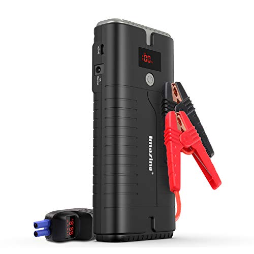 Imazing Portable Car Jump Starter - 2000A Peak 18000mAH (Up to 10L Gas or 8L Diesel Engine) 12V Auto...