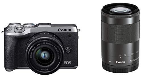 Canon ミラーレスカメラ EOS M6 Mark II (シルバー)・ダブルズームキット