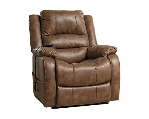 Signature Design by Ashley - Yandel Contemporary Upholstered Power Lift Recliner, Brown
