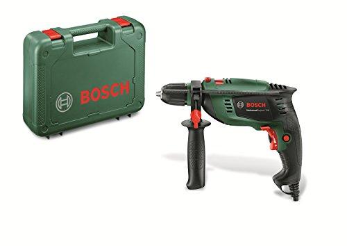 Coffret perceuse à percussion Bosch Home and Garden - UniversalImpact 700 (701W, livrée avec poignée supplémentaire et butée de profondeur) 603131000 Vert
