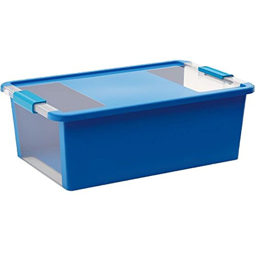 Kis Bi Box M - 55X35X19H Azzurro/ Trasp.