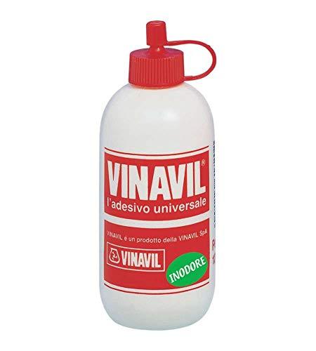 VINAVIL Vinavil Universale Colla Vinilica Senza solventi, inodore, trasparente dopo lessiccazione. 250g Bianco