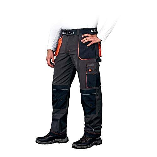 Leber&Hollman LH-FMN-T_SBP54 Formen Schutzhose, Stahlblau-Schwarz-Orange, 54 Größe