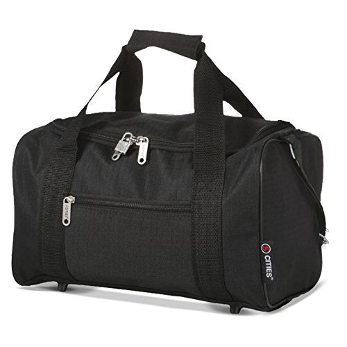 5Cities Reisetasche Sporttasche, 35cm, 14Liter, schwarz