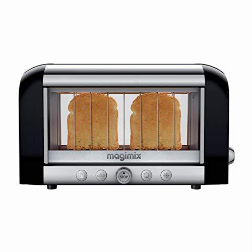 Magimix 11541 Toaster, Kunststoff, Nero, Argento