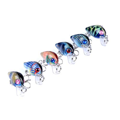 LIOOBO Fishing Lure Painted Series Bionic Bait Rock Bait Artificiale Esca per la Pesca Forniture per Pesca (Set di 6 Colori)