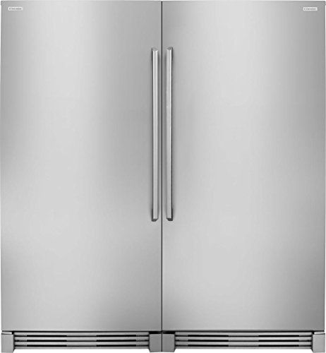 64 Side-by-Side Column Refrigerator & Freezer Set with EI32AR80QS Built-In 32 Refrigerator and EI32AF80QS 32 Built-In Freezer in Stainless Steel