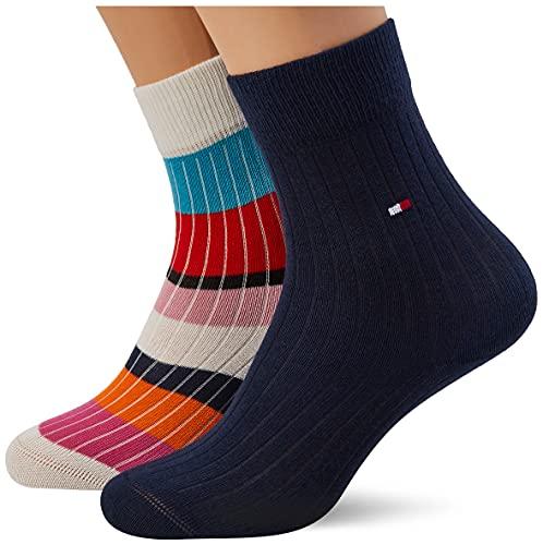 Tommy Hilfiger Multicolor Stripe Kids' Socks Calzino Classico, off White, 27 Regular Unisex-Bambini