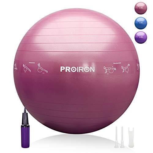 PROIRON Pelota de Pilates 65cm Fitball Pilates Pelota Embarazo (Rosa)