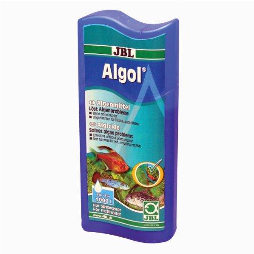 JBL Algenvernichter, Für Süßwasser-Aquarien, Unschädlich für Fische, Algol, 250 ml