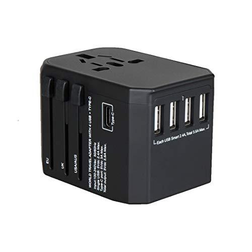海外 変換プラグ 旅行充電器 - Ridpix 2000W/8A 海外 ACアダプター USB充電器 4つusbポート Type Cポート付...