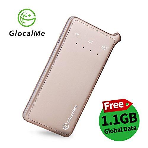GlocalMe U2 モバイル Wi-Fi ルーター 1.1ギガ分のグローバルデータパック付け 高速4G LTE ポケットwifi si...