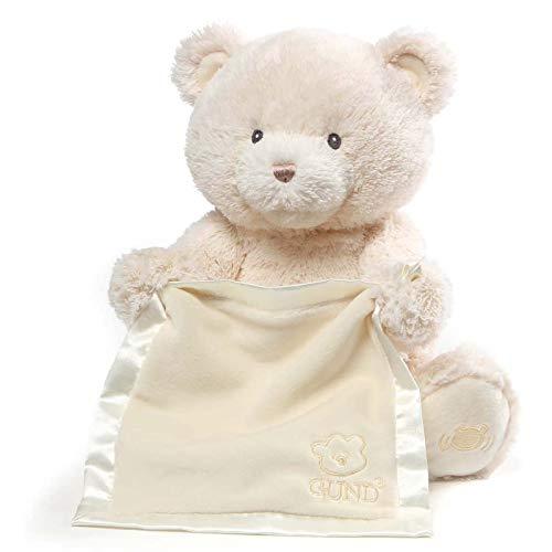 HJCC Peek-A-Boo Musik Plüsch Teddybär Singender Sprechender Teddybär Weichpuppe Spielzeug Geschenke Plüschgeburtstagsgeschenk Der Kinder