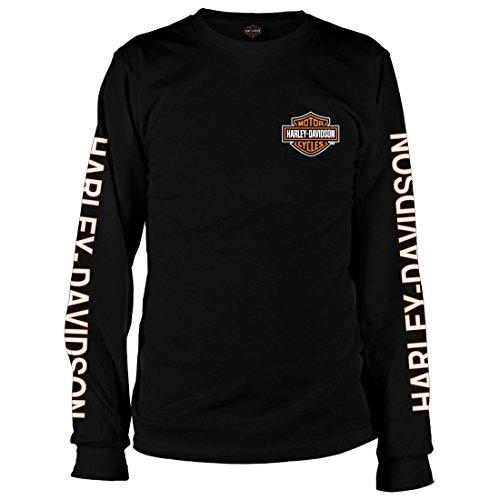 男性用ブラック長袖Tシャツ ハーレーダビッドソン Vietnam Veterans Bar & Shield US サイズ: Medium カラー: ブラック