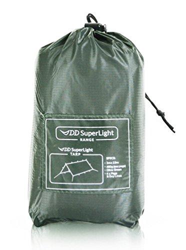 DD SuperLight Tarp スーパーライト タープ (Olive green) 軽量でコンパクト ハンモックシェルターにも最適...