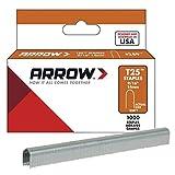 Arrow Fastener 259 9/16' T25 Staples,Gray,2 Pack