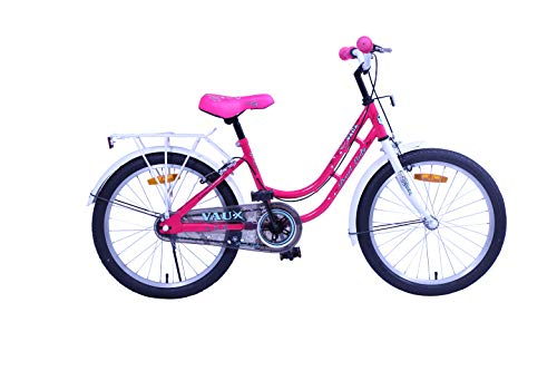 Vaux Bicycle for Kids- Vaux Pearl Lady 20T Kids Bicycle for Girls. Ideal for Cyclist with Height (3'11' – 4'3') – White/Pink.