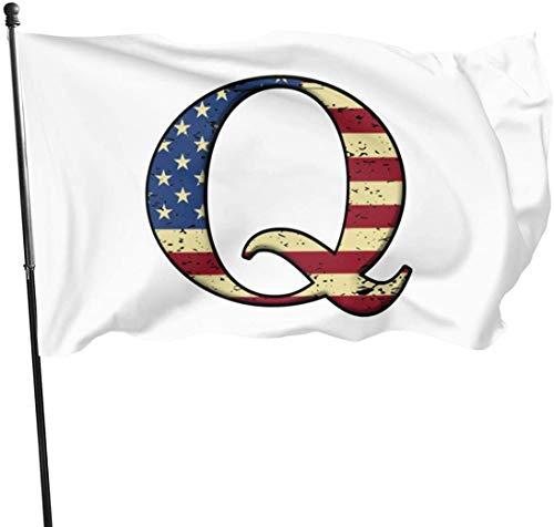 Viplili Banderas QAnon USA Flag Q Flag 3x5 Foot Polyester Fly Bleeze 3'x5' Flag