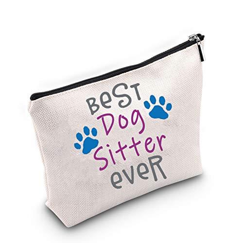 Bolsa de cosméticos para perro para paseador de perros, regalo para el mejor caminante de perros, bolsa de maquillaje, regalo para amantes de perros, regalo para los dueños de mascotas