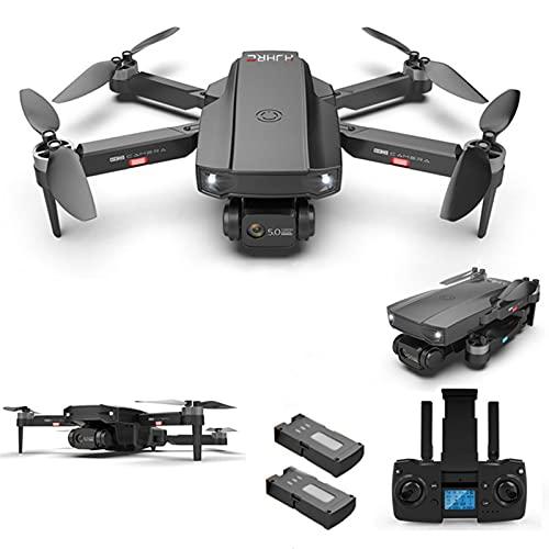 YEEWA HJ188 GPS 4K Dual Camera Drone con Motore Brushless, 5G WiFi FPV Drone con Funzione Follow Me, Drone Professionale per Adulti, 50 Min Volo con 2 batterie