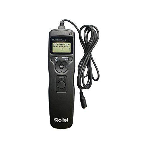 Rollei Cavo di Scatto Canon - Telecomando Con Schermo LCD, Con Retroilluminazione - Nero