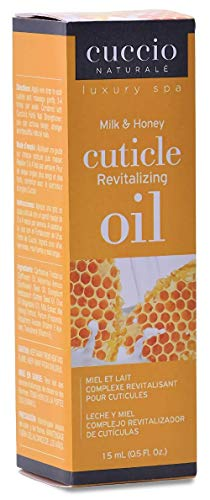 Cuccio Naturalé Milk & Honey Cuticle Revitalizing Oil - Lightweight Super-Penetrating - Nourish, Soothe & Moisturize - Paraben/Cruelty Free, w/ Natural Ingredients/Plant Based Preservatives - 0.50 oz