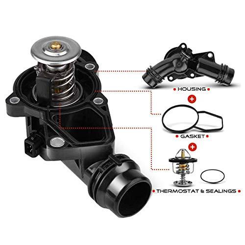 A-Premium Thermostat Housing Assembly with Sensor and Gasket Replacement for BMW E39 E46 320i 325i 328i 525i 528i 530i X3