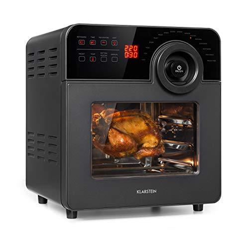 KLARSTEIN AeroVital Cube Chef - Friggitrice ad Aria, 1700 W, DuoHeating Technology, Volume: 14 L, 16...