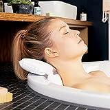 TranquilBeauty Almohadas de baño para la cabeza y el cuello con ventosas, impermeables,...