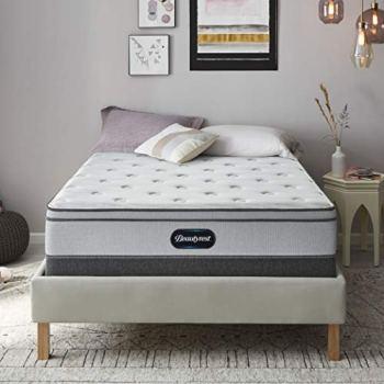 Beautyrest BR800 12 inch Plush Euro Top Mattress, Queen, Mattress Only