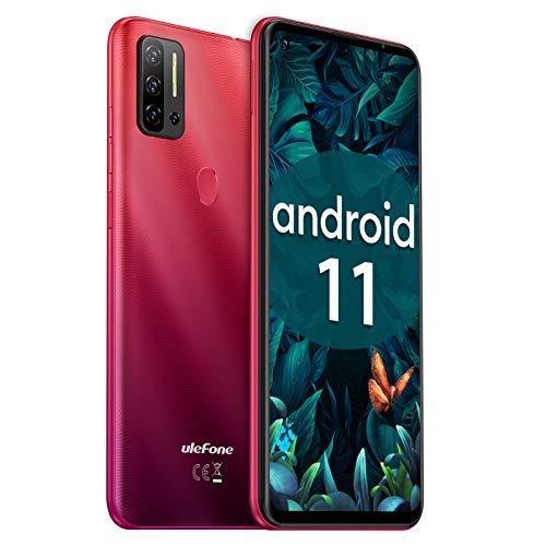 Telephone Debloqué Pas Cher Android 11, 128Go+8Go Octa-Core, 4G Smartphone 6,55Pouce, 48MP+8MP+8MP AI Caméra, Fingerprint, 4400mAh Ulefone Note 11P Dual Nano SIM + TF OTG Type-C Téléphone Portable