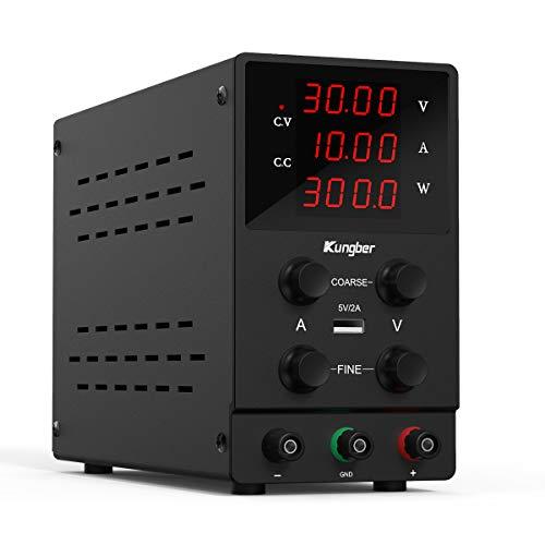 Kungber DC Power Supply Variable, 30V 10A...