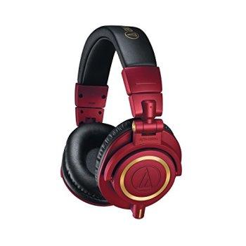 Audio-Technica Headphones, Red, ATH-M50X (ATHM50XRD)