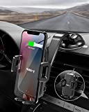 Nulaxy Wireless Car Charger, Auto Sensor 10W Qi Charging Automatic Clamping Dashboard Air Vent Phone Holder for iPhone 11 Pro Max/11/XS Max/XS, Galaxy S10+, Google Pixel 3 XL, All Qi-Enabled Phones