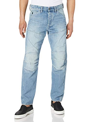 G-STAR RAW 5620 3d Original Relaxed Tapered - Jeans Uomo, Blu (Sun Faded Ice Fog Destroyed B988-C275), 35W x 36L