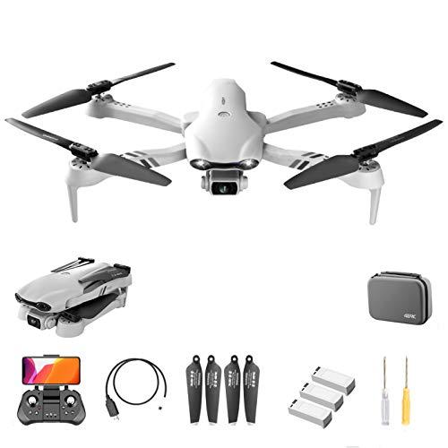 Drone GPS F10 con videocamera HD 6K per adulti, drone pieghevole video live 5G WiFi FPV con doppia videocamera, drone professionale quadricottero RC con tempo di volo di 20 minuti, ritorno automatico