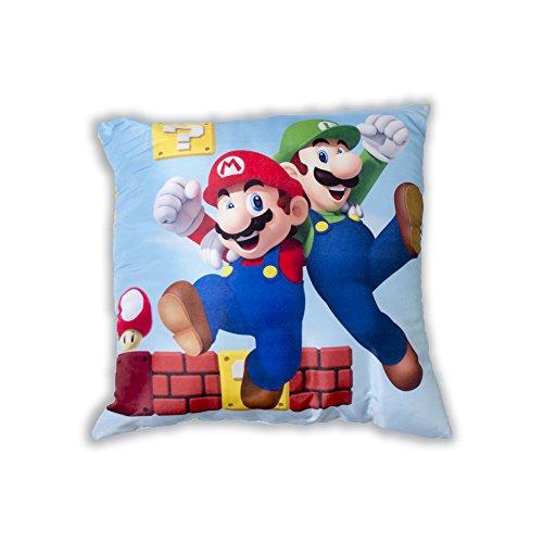 Super Mario - Cojín Cuadrado, 40 x 40 cm