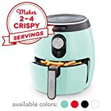 DASH DMAF355GBAQ02 Deluxe Electric Air Fryer + Oven Cooker with Temperature Control, Non Stick Fry Basket, Recipe Guide + Auto Shut off Feature, 3qt, Aqua