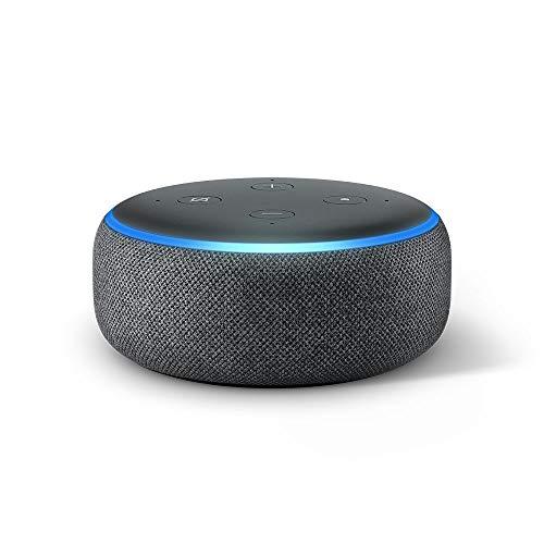 Echo Dot (3rd Gen) - Smart Speaker with Alexa, Anthracite Cloth