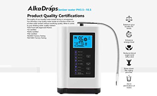 Product Image 2: AlkaDrops Water Ionizer, Water Purifier Machine PH 3.5-10.5 Alkaline Acid Water Machine,Up to -500mV ORP, 6000 Liters Per Filter,7 Water Settings,Auto-Cleaning,Intelligent Voice